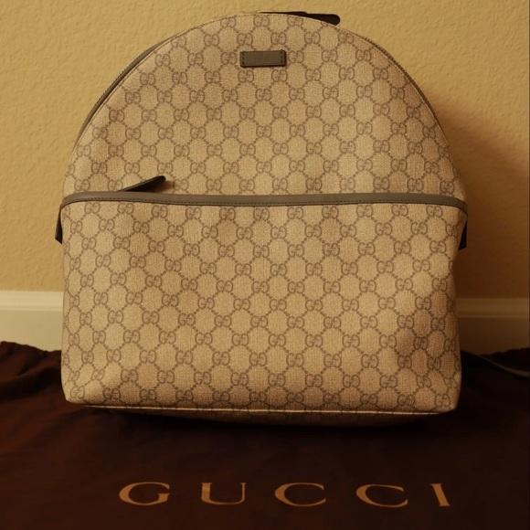 2ed3ef497859 Gucci Bags | Gg Supreme Monogram Backpack | Poshmark